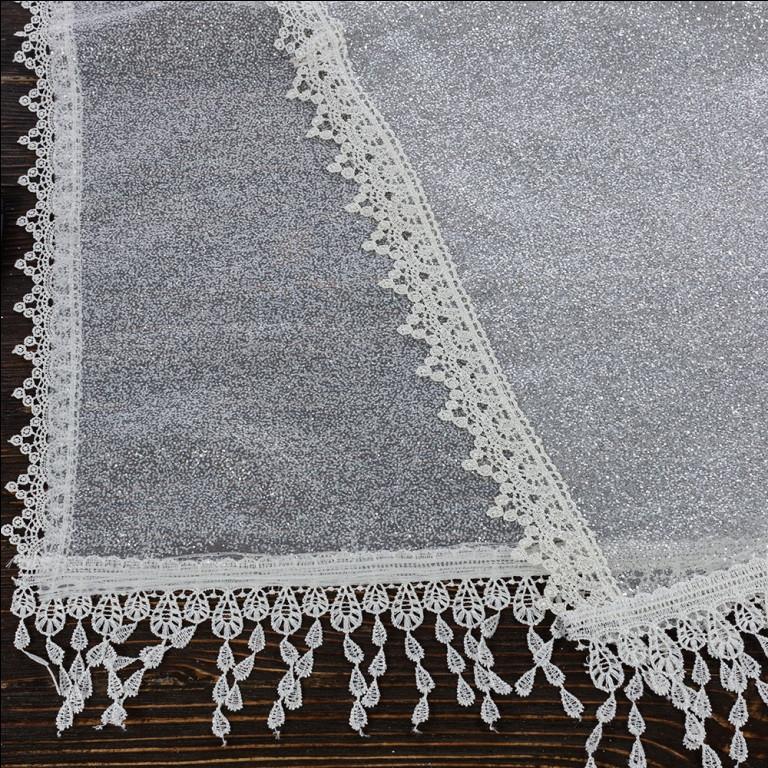 Венчальный шаль бежевый 135х45 см, арт. PV-1012