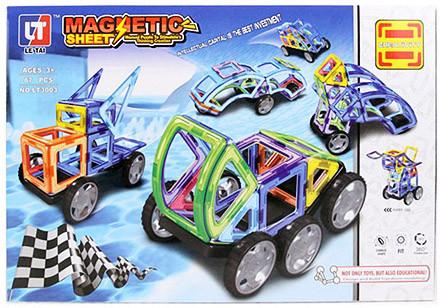 Магнитный конструктор для детей Magnetic Sheet на 87 деталей, 3+