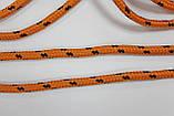 Шнур круглый 5мм с наполнителем 100м оранжевый + черный, фото 2