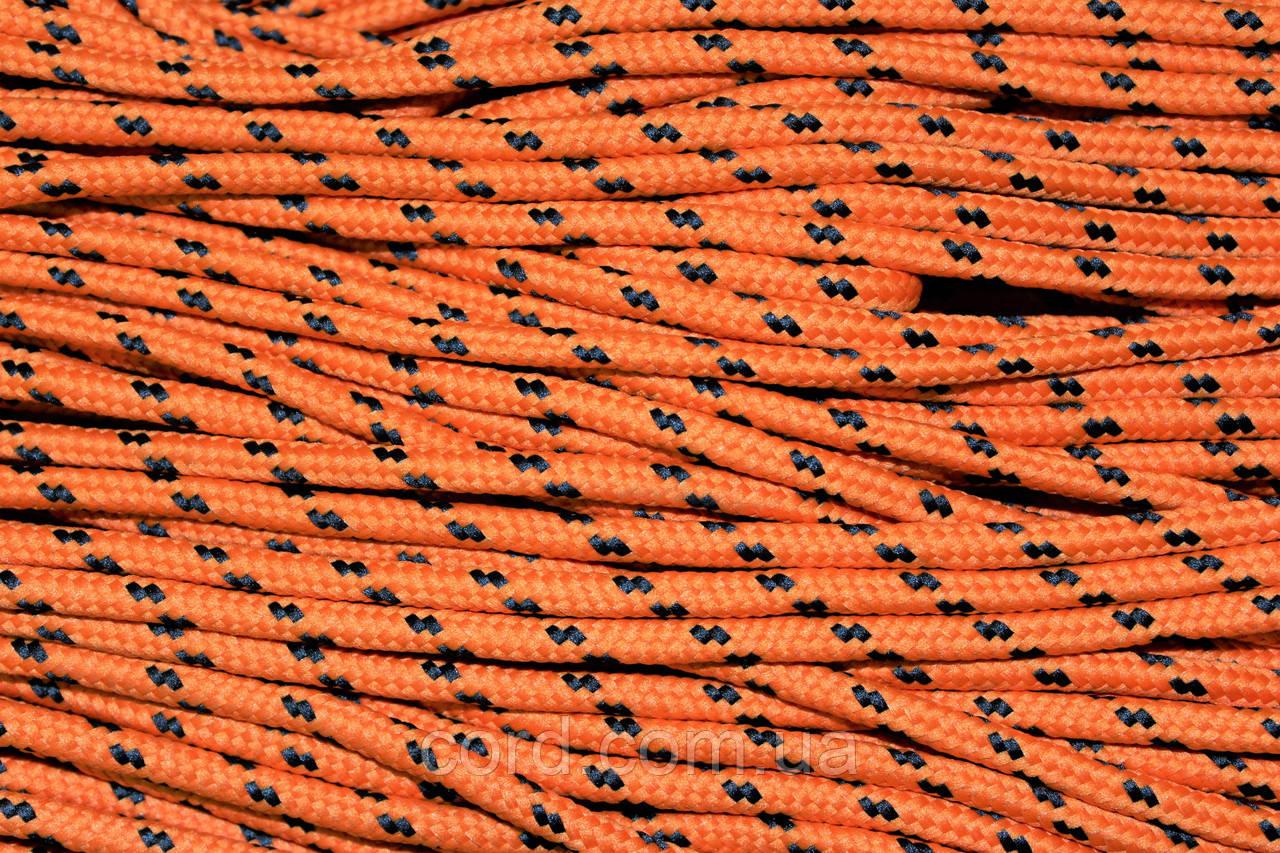Шнур круглый 5мм с наполнителем 100м оранжевый + черный