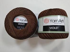 Пряжа Виолета(Violet) YarnArt, цвет коричневый 77