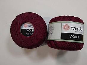 Пряжа Виолета(Violet) YarnArt, цвет бордовый 112