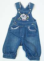Милый джинсовый комбинезон для девочки 9-12 месяцев