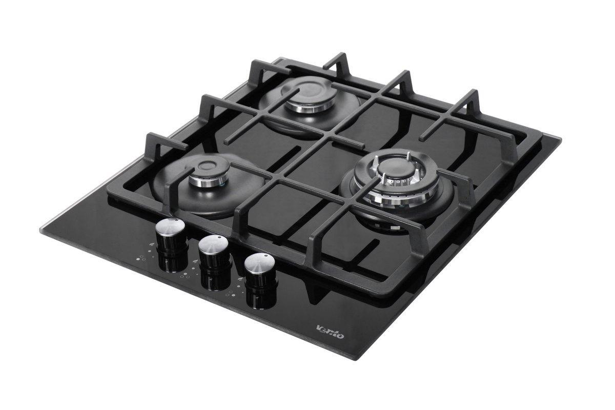 Газовая варочная поверхность Ventolux HSF430-S3G CEST (BK) газ контроль