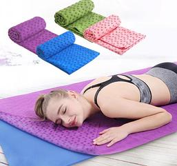 Килимок-рушник для йоги Yoga mat, рожевий колір