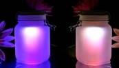 Уникальный светильник «Радуга в банке» (ночник)