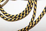 Шнур круглый 5мм с наполнителем 100м синий + желтый, фото 2