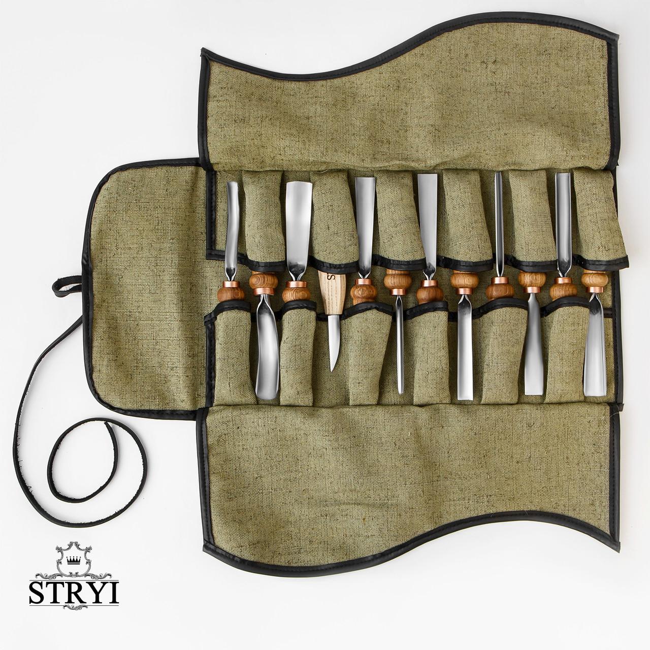 Набор инструментов для резьбы по дереву в чехле от производителя STRYI, 12 шт
