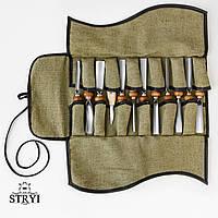 Набор инструментов для резьбы по дереву в чехле от производителя STRYI, 12 шт, фото 1