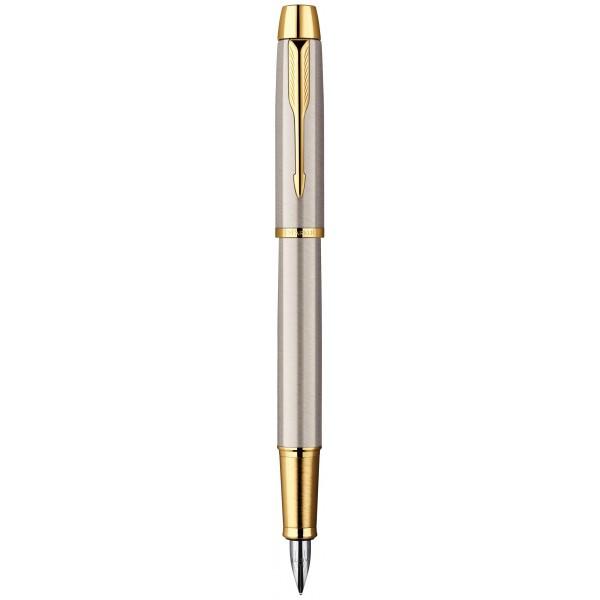 Перьевая ручка Parker IM Brushed Metal GT FP F