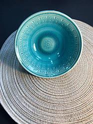 Пиала глубокая керамическая Bailey Light Blue 17 см (500-04)