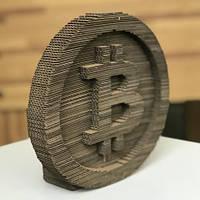 Скульптурный 3D пазл из картона Биткоин PZ59