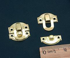 (5шт) Замочек для шкатулки 21х20мм, Цвет - Золото