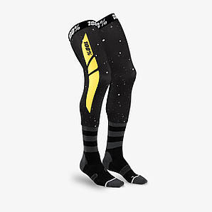 Мото носки Ride 100% REV Knee Brace Performance Moto Socks [Black/Yellow], L/XL
