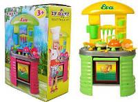 Детская кухня с посудой (зеленая)
