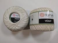 Пряжа Виолета(Violet) YarnArt, цвет бежевый 6194