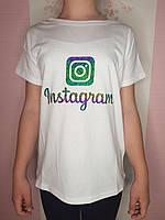 {есть:134,140,146,152,158} Футболка Instagram для девочек,  Артикул: JP1466-белая