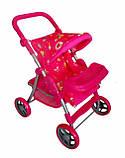 ✅Дитяча прогулянкова коляска для ляльок 9337. Кошик для іграшок, регульована ручка, столик для годування, фото 4