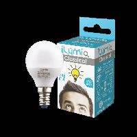 Светодиодная лампа Ilumia шар 5Вт, цоколь Е14, 3000К (теплый белый), 500Лм (014)