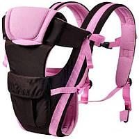 Сумка-кенгуру SUNROZ BP-14 Baby Carrier рюкзак для переноски ребенка Черно-Розовый (0976)