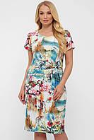 Оригинальное летнее платье до колена, размер от 52 до 58