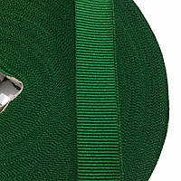 Тесьма репсовая 25мм цв зеленый (рул 50м) р 3052 Укр-з