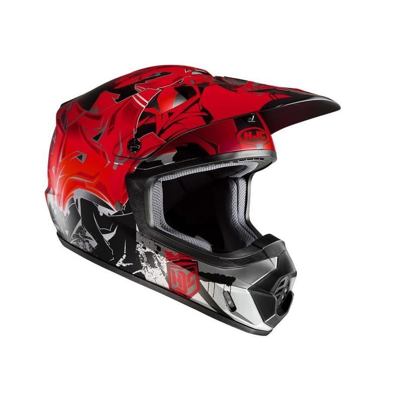 Шлем кроссовый HJC CS-MX II Graffed Red