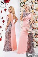 Длинное вечернее платье из люрекса и гипюра размеры 42-44, 44-46, 48-50, 50-52