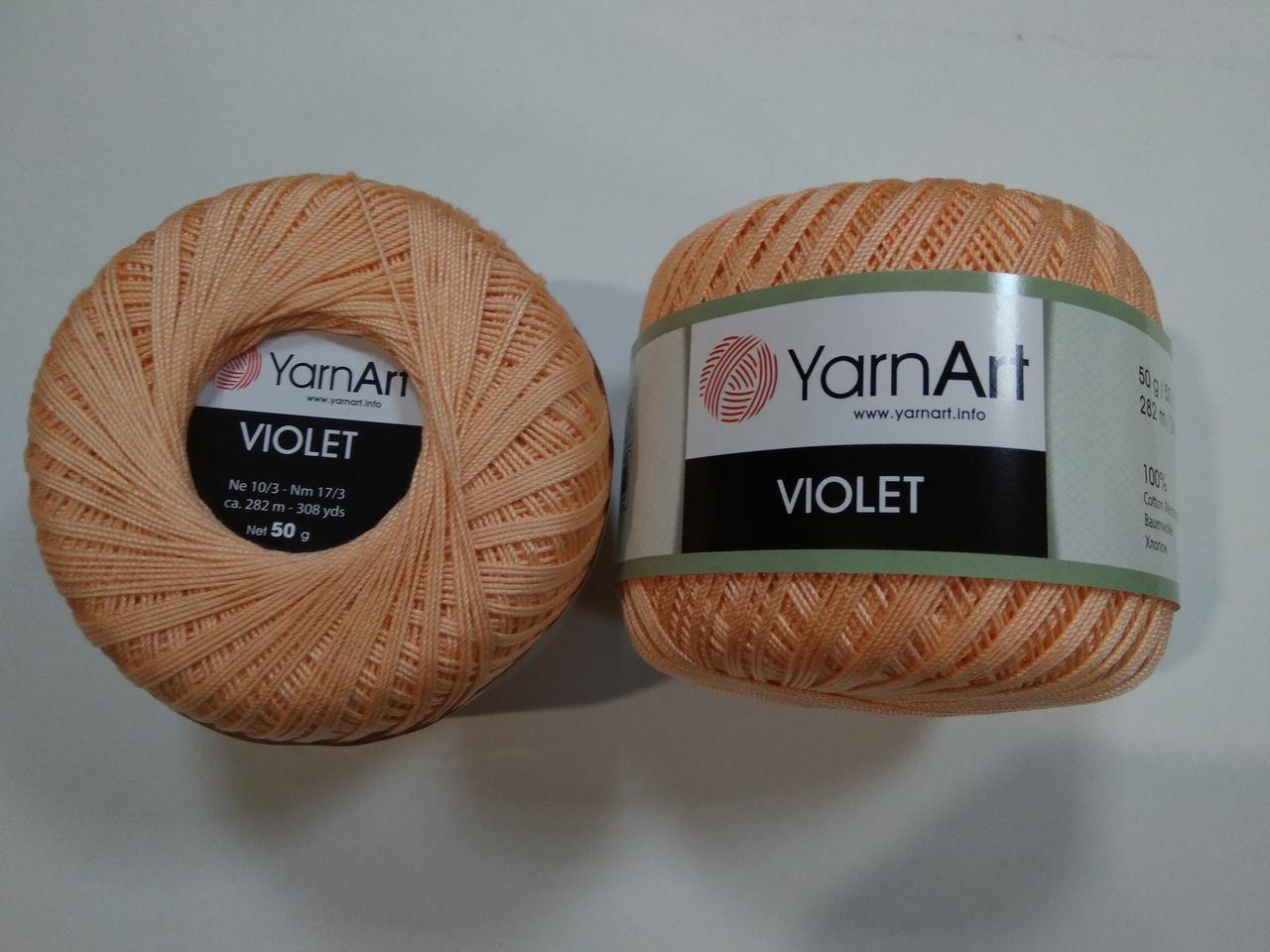 Пряжа Виолета (Violet) YarnArt, цвет абрикосовый 6322