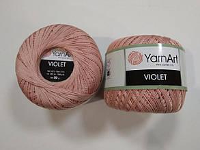 Пряжа Виолета(Violet) YarnArt, цвет пудровый 4105