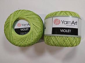 Пряжа Виолета(Violet) YarnArt, цвет салатовый 5352