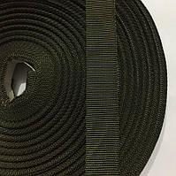 Лента репсовая 100% Полиамид 20мм цв хаки (рул 50м) р.3021 Укр-б