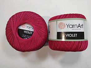 Пряжа Виолета(Violet) YarnArt, цвет малиновый 6858