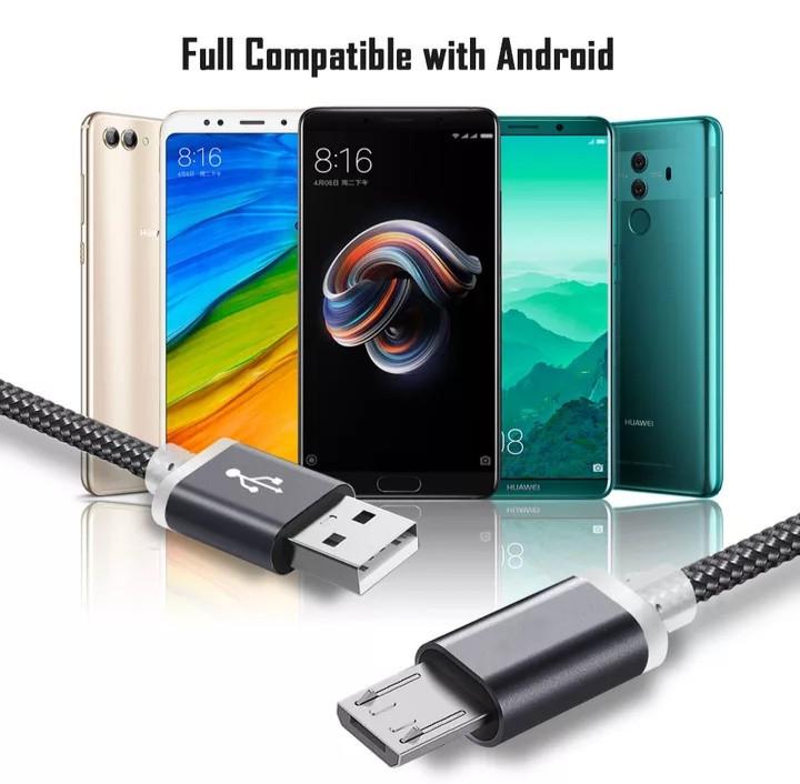 Micro USB кабель з подовженим коннектором 9 мм, усилений Сірий 2 метра