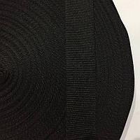 Лента репсовая 22мм цв черный (боб 50м) р.3262 Укр-з