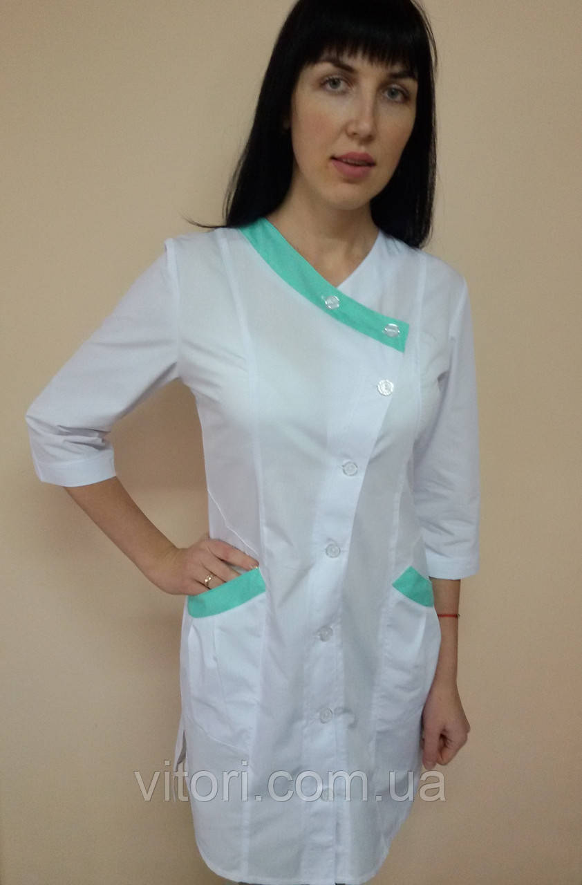 Женский медицинский халат Китай  хлопок три четверти рукав 44 размер