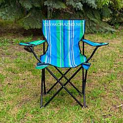 Стул раскладной для пикника с подлокотниками / Стілець розкладний для пікніка з підлокітниками (синий)