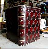 Оригинальный кожаный блокнот ежедневник ручная работа винтажный формат а5, фото 4