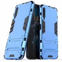 Чохол Hybrid case для Honor 9X China бампер з підставкою блакитний, фото 1