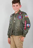 Дитяча льотна куртка Alpha Industries MA-1 Jacket with Patches YJM21001C1 (Sage Green)