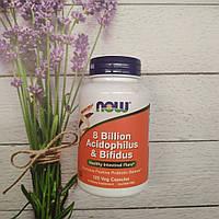 Now Foods 8 Billion Acidophilus & Bifidus 120 veg caps , активное долголетие, пробиотики