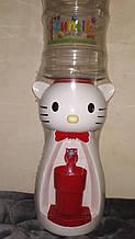 Кулер детский/Диспенсер для воды Китти 2,5 л Белый с красным