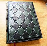 Кожаный блокнот ежедневник винтажный ручной работы оригинальный подарок, фото 7