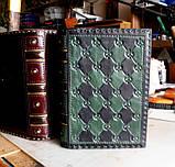 Кожаный блокнот ежедневник винтажный ручной работы оригинальный подарок, фото 3