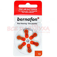 Батарейки для слуховых аппаратов Bernafon 13, 6 шт., фото 1