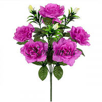 Букет искусственные розы с бутонами, 48см