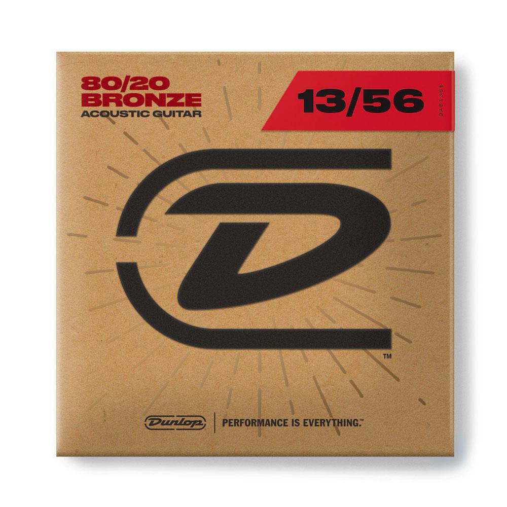 Струни для акустичної гітари DUNLOP DAB1356 80/20 BRONZE MEDIUM (13-56)