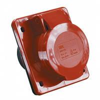Розетка встраиваемая 3Р+РЕ+N 16А 380В IP44 IEK ССИ-415