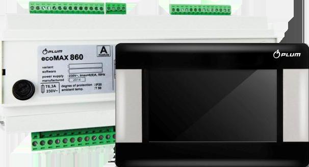 Автоматика для пеллетной горелки PLUM ecoMAX 860 TOUCH