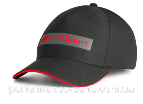 Бейсболка Audi Sport Cap, Black, MY2020, артикул 3132001400. Официальная коллекция Audi.
